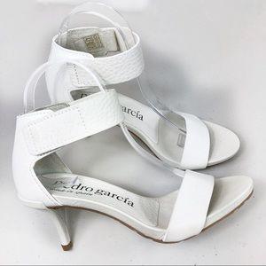 Pedro Garcia Sandals White Cervo Winka Size 36.5